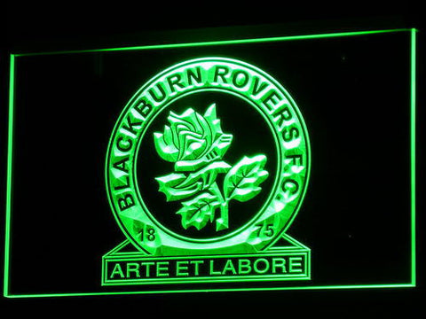 Blackburn Rovers FC LED Neon Sign - Green - SafeSpecial