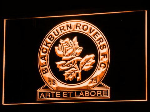 Blackburn Rovers FC LED Neon Sign - Orange - SafeSpecial