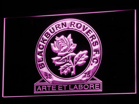 Blackburn Rovers FC LED Neon Sign - Purple - SafeSpecial
