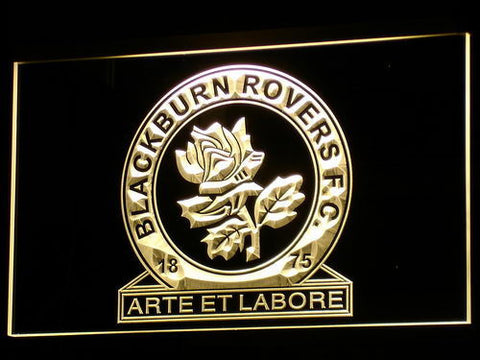 Blackburn Rovers FC LED Neon Sign - Yellow - SafeSpecial