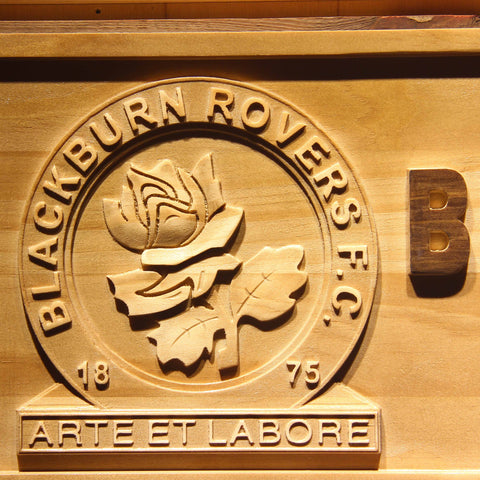 Blackburn Rovers FC Wooden Sign - - SafeSpecial