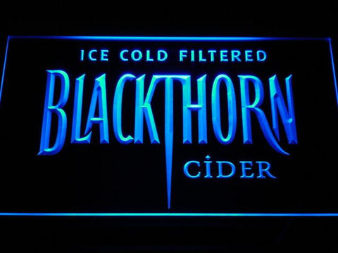 Blackthorn Old Logo LED Neon Sign - Blue - SafeSpecial