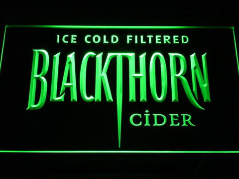 Image of Blackthorn Old Logo LED Neon Sign - Green - SafeSpecial