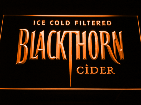 Blackthorn Old Logo LED Neon Sign - Orange - SafeSpecial