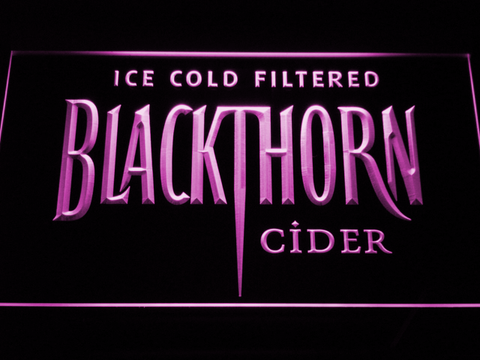 Image of Blackthorn Old Logo LED Neon Sign - Purple - SafeSpecial