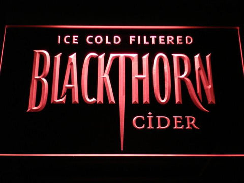 Image of Blackthorn Old Logo LED Neon Sign - Red - SafeSpecial