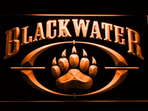 Image of Blackwater LED Neon Sign - Orange - SafeSpecial