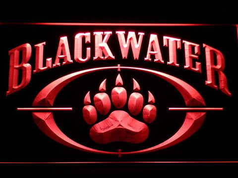 Image of Blackwater LED Neon Sign - Red - SafeSpecial