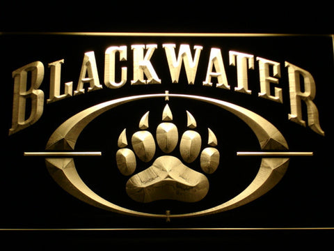 Image of Blackwater LED Neon Sign - Yellow - SafeSpecial