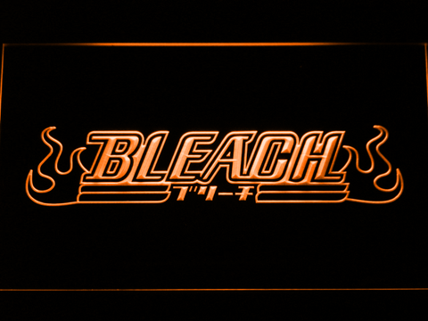 Bleach LED Neon Sign - Orange - SafeSpecial