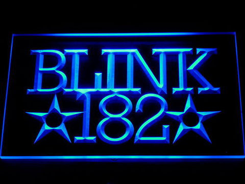 Blink 182 LED Neon Sign - Blue - SafeSpecial