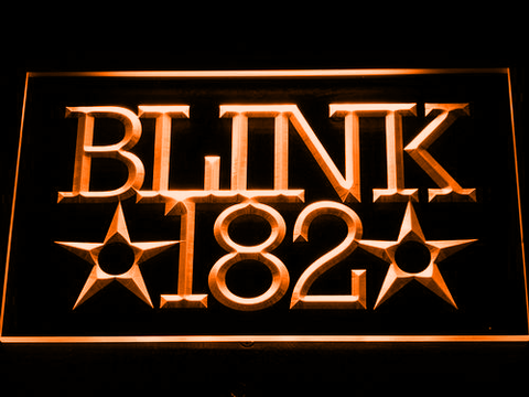 Blink 182 LED Neon Sign - Orange - SafeSpecial