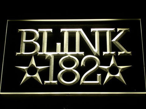Blink 182 LED Neon Sign - Yellow - SafeSpecial