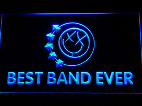 Blink 182 Smiley Best Band Ever LED Neon Sign - Blue - SafeSpecial