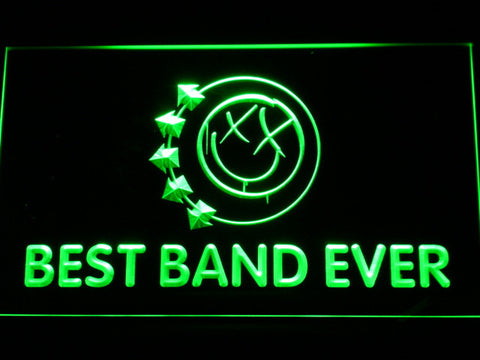 Blink 182 Smiley Best Band Ever LED Neon Sign - Green - SafeSpecial