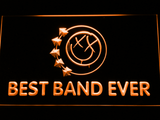 Blink 182 Smiley Best Band Ever LED Neon Sign - Orange - SafeSpecial
