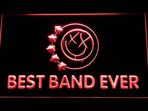 Blink 182 Smiley Best Band Ever LED Neon Sign - Red - SafeSpecial
