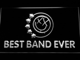 Blink 182 Smiley Best Band Ever LED Neon Sign - White - SafeSpecial