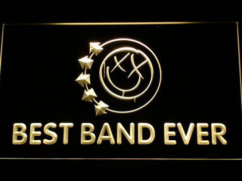 Blink 182 Smiley Best Band Ever LED Neon Sign - Yellow - SafeSpecial