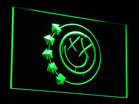 Image of Blink 182 Smiley LED Neon Sign - Green - SafeSpecial