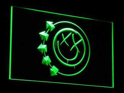 Blink 182 Smiley LED Neon Sign - Green - SafeSpecial