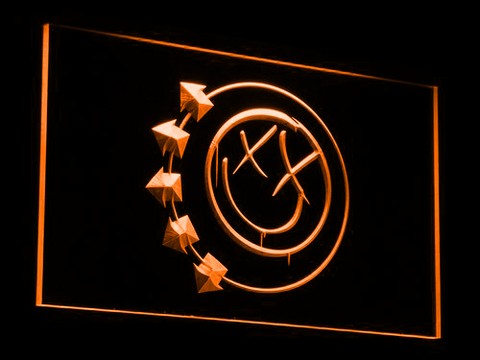 Image of Blink 182 Smiley LED Neon Sign - Orange - SafeSpecial