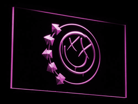 Image of Blink 182 Smiley LED Neon Sign - Purple - SafeSpecial