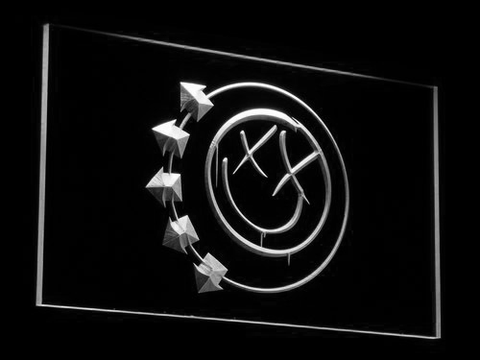 Image of Blink 182 Smiley LED Neon Sign - White - SafeSpecial