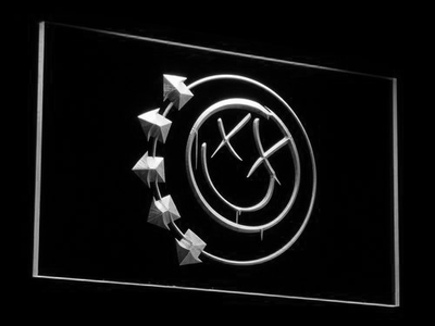 Blink 182 Smiley LED Neon Sign - White - SafeSpecial