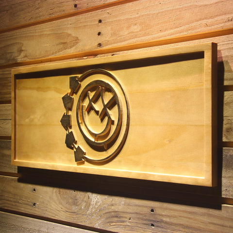 Blink 182 Smiley Wooden Sign - - SafeSpecial