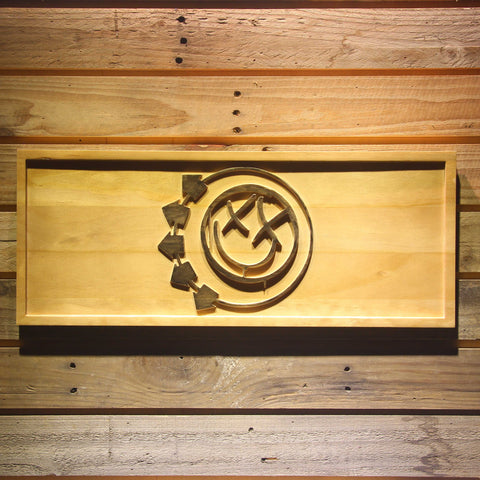 Blink 182 Smiley Wooden Sign - Small - SafeSpecial