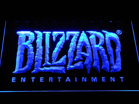 Image of Blizzard Entertainment LED Neon Sign - Blue - SafeSpecial