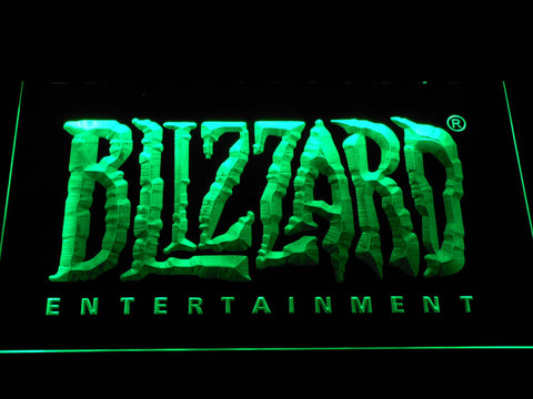 Image of Blizzard Entertainment LED Neon Sign - Green - SafeSpecial
