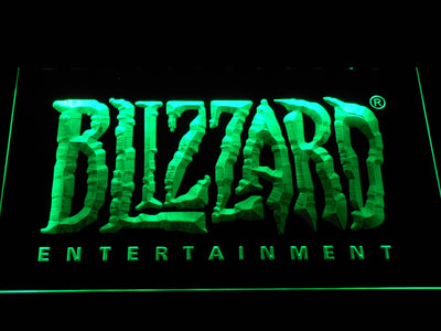 Blizzard Entertainment LED Neon Sign - Green - SafeSpecial