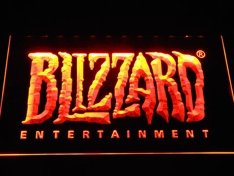 Image of Blizzard Entertainment LED Neon Sign - Orange - SafeSpecial
