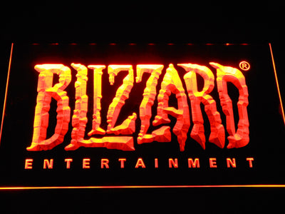 Blizzard Entertainment LED Neon Sign - Orange - SafeSpecial