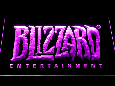 Image of Blizzard Entertainment LED Neon Sign - Purple - SafeSpecial