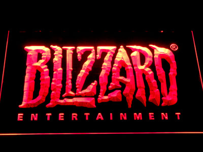 Blizzard Entertainment LED Neon Sign - Red - SafeSpecial