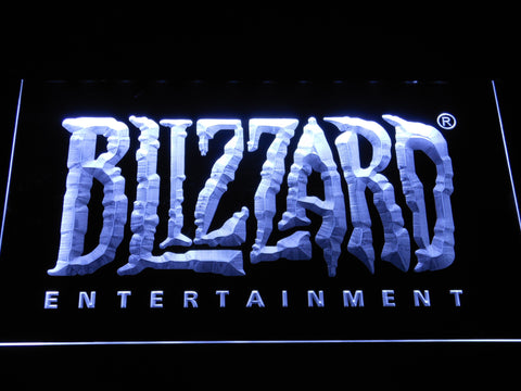 Image of Blizzard Entertainment LED Neon Sign - White - SafeSpecial