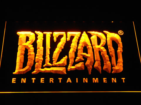 Blizzard Entertainment LED Neon Sign - Yellow - SafeSpecial