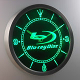 Blu-ray Disc LED Neon Wall Clock - Green - SafeSpecial