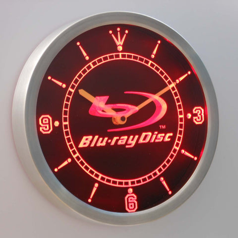 Blu-ray Disc LED Neon Wall Clock - Red - SafeSpecial