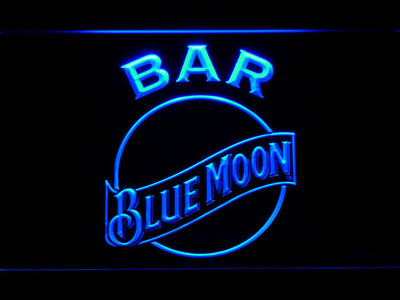 Blue Moon Bar LED Neon Sign - Blue - SafeSpecial