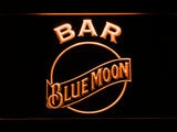 Blue Moon Bar LED Neon Sign - Orange - SafeSpecial