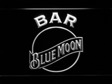 Blue Moon Bar LED Neon Sign - White - SafeSpecial