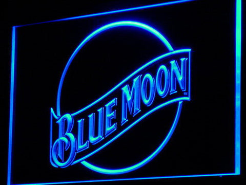 Blue Moon LED Neon Sign - Blue - SafeSpecial