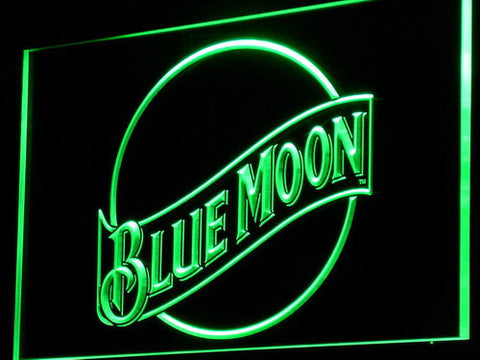 Blue Moon LED Neon Sign - Green - SafeSpecial