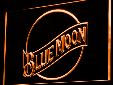 Blue Moon LED Neon Sign - Orange - SafeSpecial