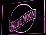 Blue Moon LED Neon Sign - Purple - SafeSpecial
