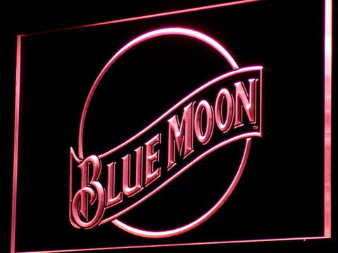 Blue Moon LED Neon Sign - Red - SafeSpecial